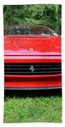 1993 Red Ferrari 512 Tr Bath Towel