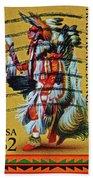 1996 Native American Stamp Bath Towel