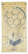 1996 Soccerball Patent Artwork - Vintage Bath Towel