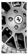 1997 Ferrari F 355 Spider Wheel Emblem -125bw Bath Towel