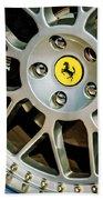 1997 Ferrari F 355 Spider Wheel Emblem -125c Bath Towel