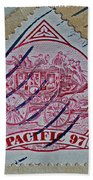 1997 Pacific Stagecoach Stamp Bath Towel