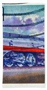 1999 Hiawatha Train Stamp Bath Towel