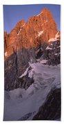 1m9380-sunrise On The North Face Of Grand Teton Bath Towel