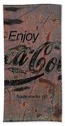 Coca Cola Sign Grungy Retro Style Bath Towel