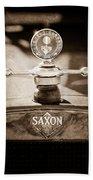 1915 Saxon Roadster Hood Ornament Bath Towel