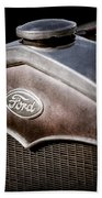 1931 Ford Grille Emblem Bath Towel