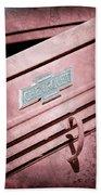1938 Chevrolet Pickup Truck Emblem Bath Towel