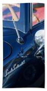 1941 Lincoln Continental Convertible Emblem Bath Towel