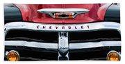 1955 Chevrolet 3100 Pickup Truck Grille Emblem Bath Towel