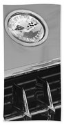 1958 Chevrolet Corvette Hood Emblem Bath Towel