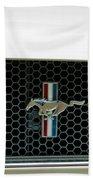 1966 Shelby Gt 350 Grille Emblem Bath Towel