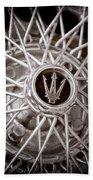 1972 Maserati Ghibli 4.9 Ss Spyder Wheel Emblem Bath Towel