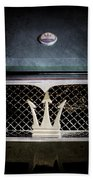 1972 Maserati Ghibli Grille - Hood Emblems Bath Towel