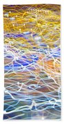 Abstract Background - Citylights At Night Bath Towel