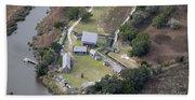 Aerial Near Jekyll Island Bath Towel