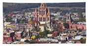 Aerial View Of San Miguel De Allende Bath Towel