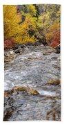 American Fork Canyon Creek In Autumn - Utah Bath Towel