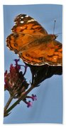American Lady Butterfly Bath Towel