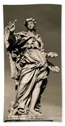 Angel Statue Bath Towel