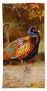 Autumn Covert Pheasants Bath Towel