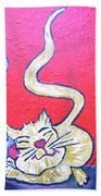 Art Cat Bath Towel