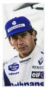 Ayrton Senna Bath Towel