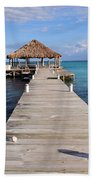 Beach Deck With Palapa Floating In The Water Bath Towel