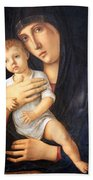 Bellini's Madonna And Child Bath Towel
