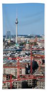 Berlin Cathedral And Tv Tower Bath Towel