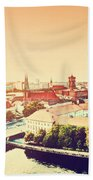 Berlin Germany View On Major Landmarks Bath Towel