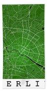 Berlin Street Map - Berlin Germany Road Map Art On Colored Backg Bath Towel