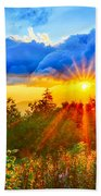 Blue Ridge Parkway Late Summer Appalachian Mountains Sunset West Bath Towel