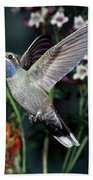 Blue-throated Hummingbird Bath Towel