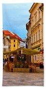 Bratislava Old Town Bath Towel