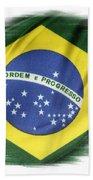 Brazilian Flag  Bath Towel