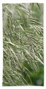Brome Grass In The Hay Field Bath Towel
