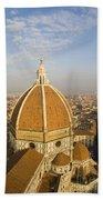Brunelleschi's Dome At The Basilica Di Santa Maria Del Fiore Bath Towel