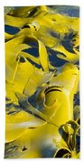 Bull Kelp Blades On Surface Background Texture Bath Towel