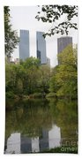Central Park Pond Bath Towel
