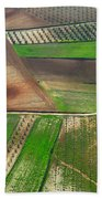 Cereal Fields From The Air Bath Towel