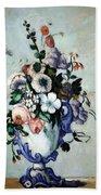 Cezanne's Flowers In A Rococo Vase Bath Towel