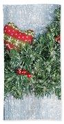 Christmas Garland Hand Towel by Amanda Elwell