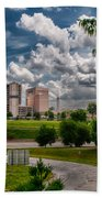 City Streets Of Charlotte North Carolina Bath Towel