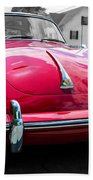 Classic Red P Sports Car Bath Towel