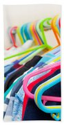 Clothes Hangers Hand Towel by Tom Gowanlock