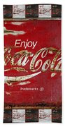 Coca Cola Signs Bath Towel