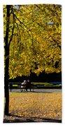 Colorful Fall Autumn Park Bath Towel