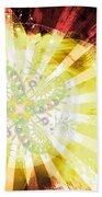 Cosmic Solar Flower Fern Flare 2 Bath Towel by Shawn Dall