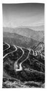 Curvy Roads Silk Trading Route Between China And India Bath Towel